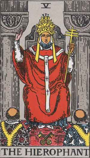 The Pope Tarot Card
