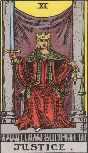 The Justice Tarot Card